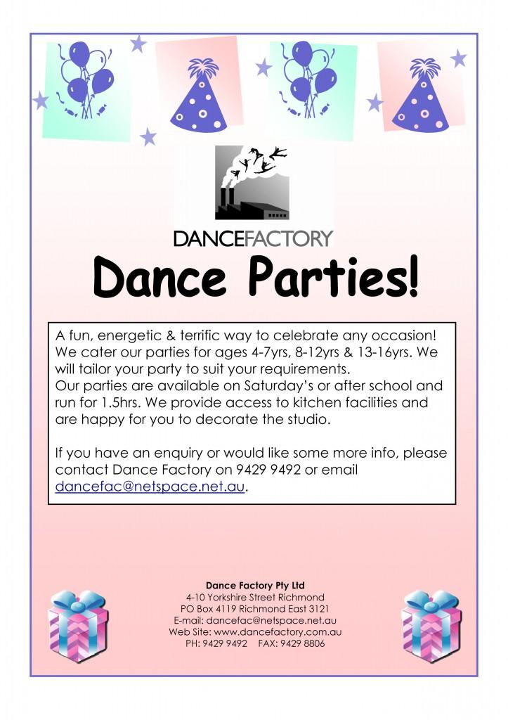 Dance Parties POSTER